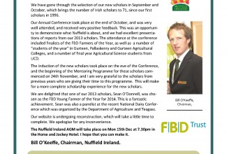 Nuffield Ireland Newsletter Nov 2014